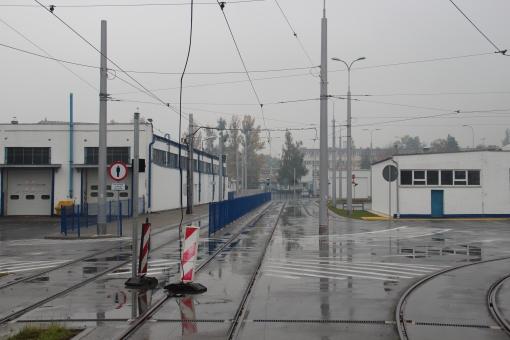 Tory na terenie zajezdni tramwajowej przy ulicy Towarowej (18 października 2015)