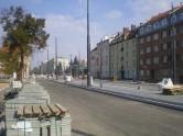 Budowa linii tramwajowej w ulicy Kościuszki (4 października 2015) - przystanek Skwer Wakara