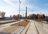 Linia tramwajowa przy ulicy Tuwima (31 października 2015)