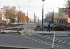 Linia tramwajowa w ulicy Dworcowej (31 października 2015)