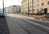 Linia tramwajowa w ulicy Kościuszki (31 października 2015) - przystanek wiedeński Kętrzyńskiego w kierunku Śródmieścia