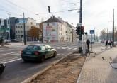 Linia tramwajowa w ulicy Kościuszki (31 października 2015) - skrzyżowanie z aleją Piłsudskiego
