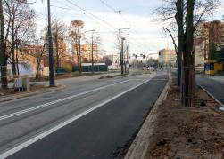 Linia tramwajowa w ulicy Żołnierskiej (31 października 2015)