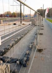 Linia tramwajowa przy alei Sikorskiego (31 października 2015) - przystanek Real