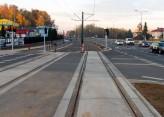 Linia tramwajowa przy alei Sikorskiego (31 października 2015) - skrzyżowanie z ulicą Minakowskiego