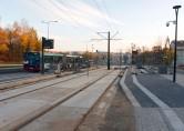 Linia tramwajowa przy alei Sikorskiego (31 października 2015) - przystanek Andersa