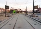 Linia tramwajowa przy ulicy Witosa (31 października 2015) - przystanek końcowy Kanta