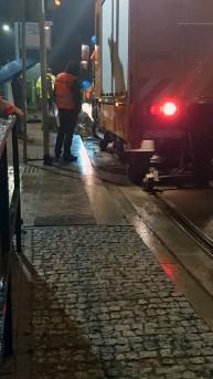 Samochód sieciowy Unimog na przystanku końcowym Kanta (16 listopada 2015)