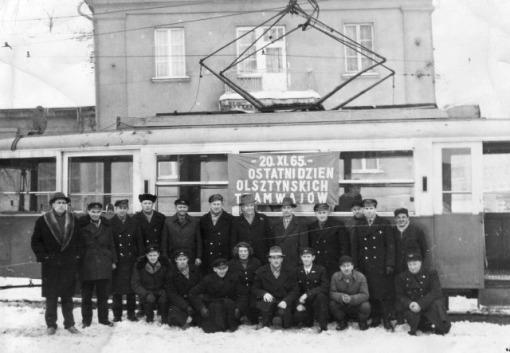 20 listopada 1965 - ostatni dzień olsztyńskich tramwajów