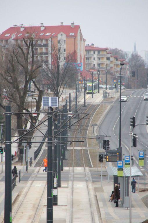 Torowisko tramwajowe w alei Sikorskiego