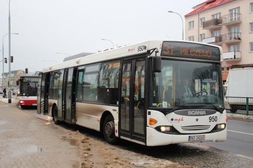 Scania OmniLink CL9 #950 na przystanku D.H. Śliwa
