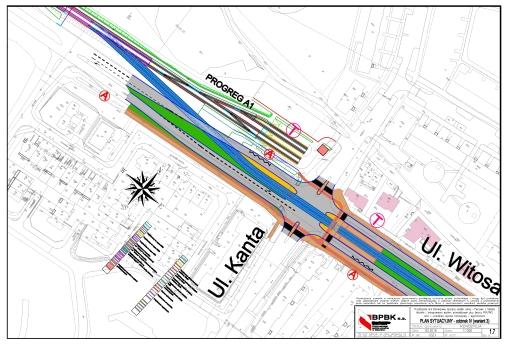Projekt przedłużenia linii w ulicy Witosa z ominięciem krańcówki Kanta
