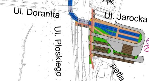 Projekt krańcówki tramwajowej Tęczowy Las - wariant z parkingiem Parkuj i jedź