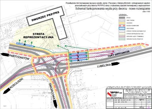 Propozycja układu węzła przesiadkowego Dworzec Główny (kwiecień 2016)