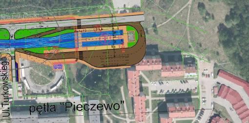 Pętla Pieczewo zaplanowana... w miejscu bloku
