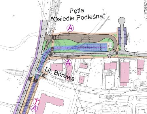 Pętla autobusowo-tramwajowa Osiedle Podleśna według projektu BPBK
