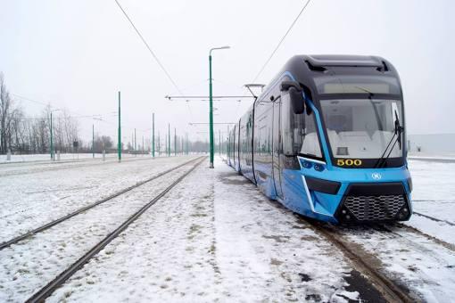 Pierwszy egzemplarz tramwaju Moderus Gamma z poznańskim numerem taborowym #500