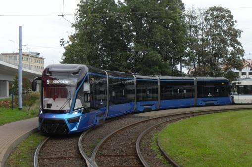 Prototyp Moderusa Gamma LF 01 AC na pętli Strzyża PKM w Gdańsku