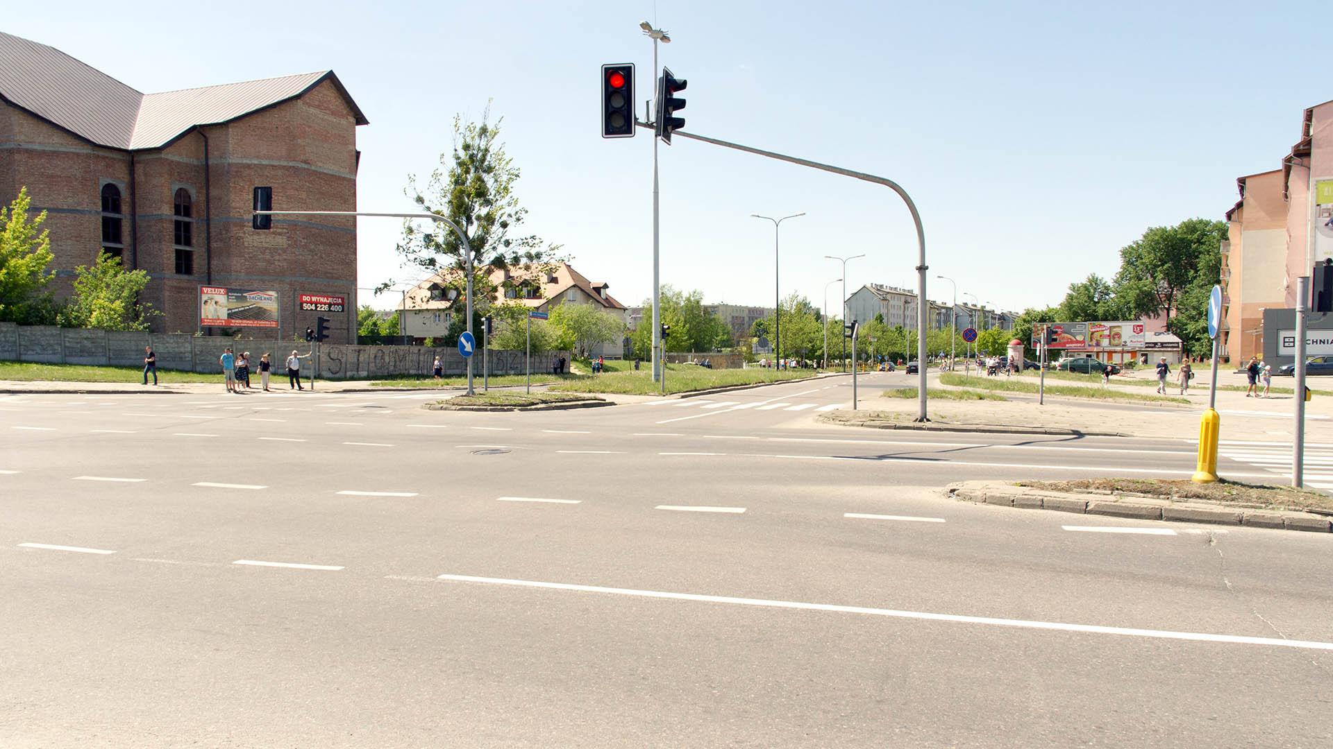 Skrzyżowanie ulic Wilczyńskiego i Krasickiego (13 maja 2018)