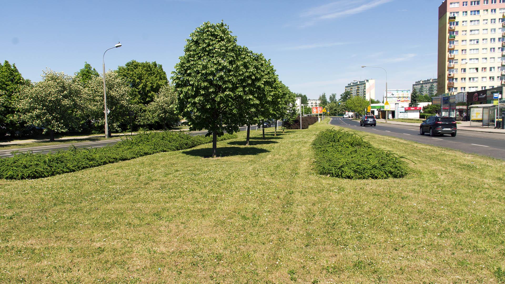 Ulica Dworcowa przy placu Inwalidów Wojennych