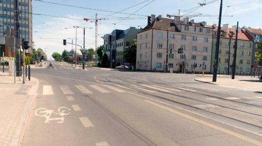 Skrzyżowanie alei Piłsudskiego i ulicy Kościuszki