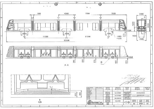 Schemat tramwaju Durmazlar Panorama dla Olsztyna (1)