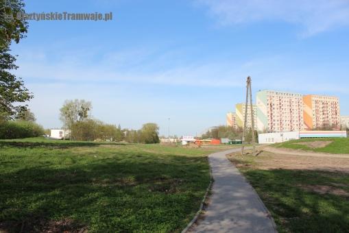 Teren planowanej ulicy Obiegowej (29 kwietnia 2012)