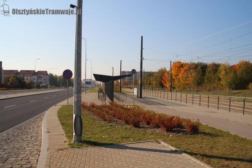 Ulica Witosa przy przystanku końcowym Kanta (13 października 2018)