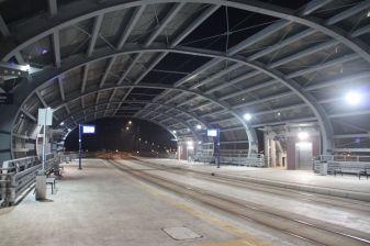 Przystanek tramwajowy Dworzec Wschód w Bydgoszczy (6 stycznia 2018)