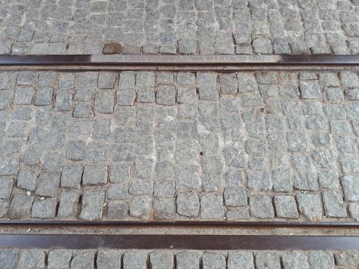 Pamiątkowy tor tramwajowy pod Wysoką Bramą (9 sierpnia 2018)