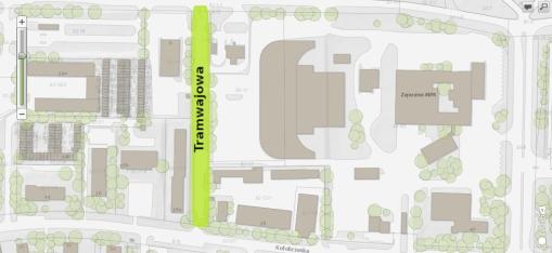 Ulica Tramwajowa - proponowany przebieg