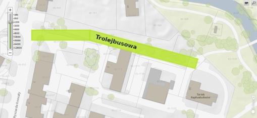 Ulica Trolejbusowa - proponowany przebieg