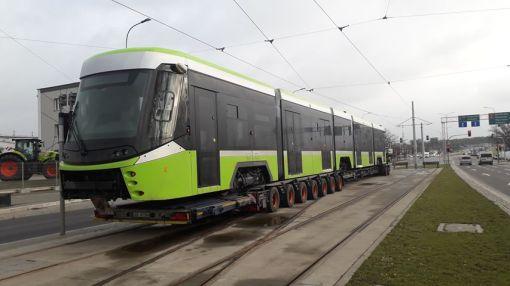 Pierwszy Durmazlar Panorama Olsztyn w dniu przyjazdu do Olsztyna (13 lutego 2020)