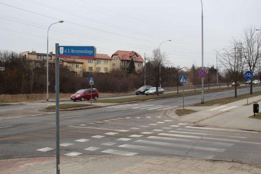 Skrzyżowanie ulic Krasickiego i Murzynowskiego (4 marca 2016)