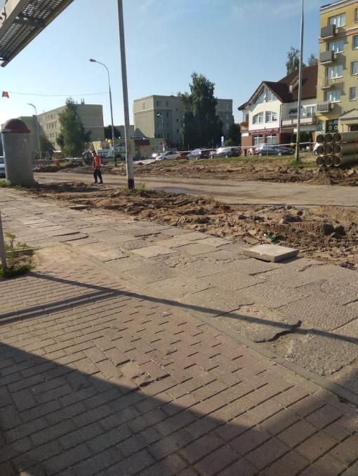 Budowa linii tramwajowej w ulicy Wilczyńskiego, w okolicach skrzyżowania z ulicami Gębika i Żurawskiego (13 sierpnia 2021)