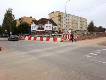 Budowa linii tramwajowej w ulicy Wilczyńskiego, w okolicach skrzyżowania z ulicami Żurawskiego i Gębika (2 października 2021)